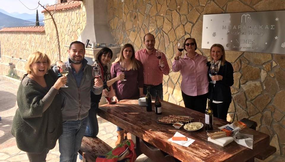 Με τον Χρήστο Μπαραφάκα και νέους winelovers φίλους!