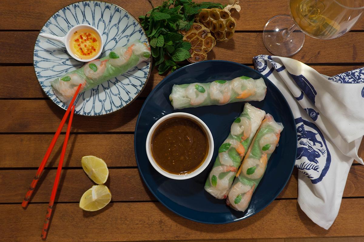 Vietnamese Rolls - Βιετναμέζικα ρολάκια λαχανικών